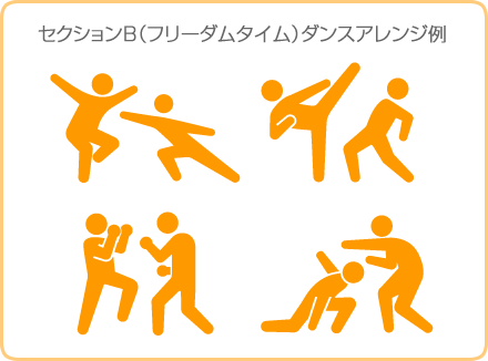 セクションB(フリーダムタイム)ダンスアレンジ例